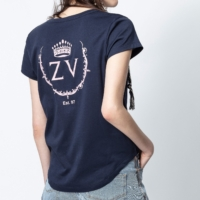 Navy Aretha ZV Crown Print T-Shirt