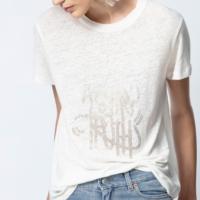 White Azedi Strass Jormi T-Shirt