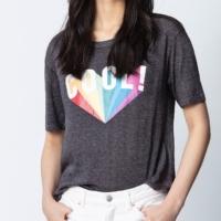 Charcoal Kanye Rainbow T-Shirt