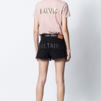 Dusty Pink Atal Love Henley T-Shirt