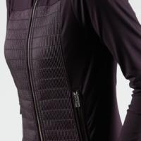 Black Anna Matelasse Ski Jacket