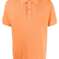 Orange Logo Embroidery Polo Shirt