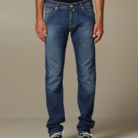True Blue Contrast Stitch Comfort Denim