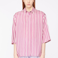 Candy Striped Oversized Shirt