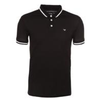 Black Striped Collar Polo Shirt