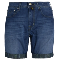 Blue Slim-Fit Denim Shorts