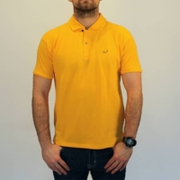 Yellow Logo Embroidery Polo Shirt