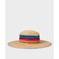 Raffia Striped Hat