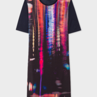 Navy 'Puddle Reflection' Print Jersey Dress
