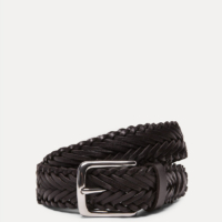Brown Hand-Plaited Leather Belt
