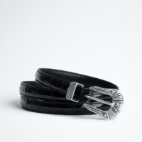 Navy Sya Eel Belt