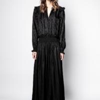 Black Roar Python Dress