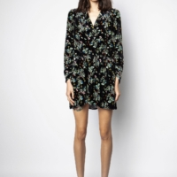 Black Reveal Blossom Dress
