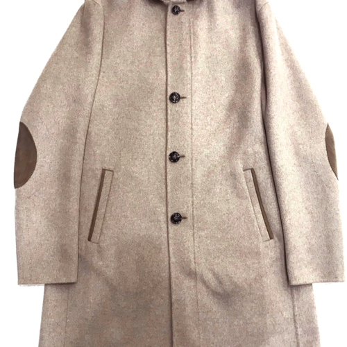 Beige Felted Overcoat
