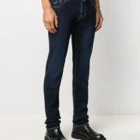 Mid Blue Slim Fit Denim Pants