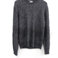 Two-Tone Knit Ribbed Jumper