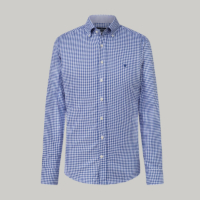Blue Check Flannel Oxford Shirt
