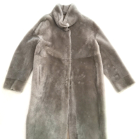 Grey Fur Reversible Coat
