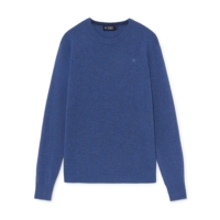 Coastal Blue Lambswool Crew Neck Jumper