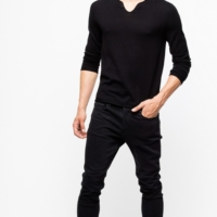 Black Merino Wool Monastir Sweater