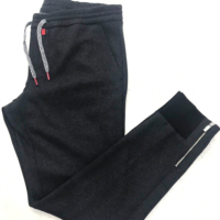Charcoal Cashmere Track Pants