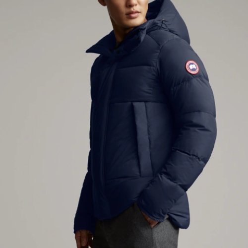 Blue Armstrong Hooded Jacket
