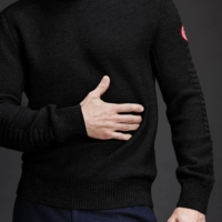 Black Patterson Knit Sweater