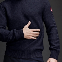 Navy Patterson Knit Sweater