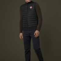 Black Hybridge Vest Jacket