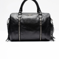 Black Sunny Medium Franges Bag