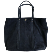 Navy Mick Suede Bag