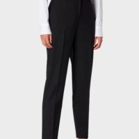 Black Classic Slim Fit Suit Pants