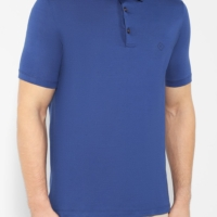 Blue Mercerised Polo Shirt