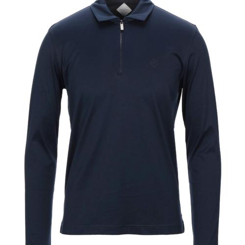 Navy Mercerised Long Sleeved Polo Shirt