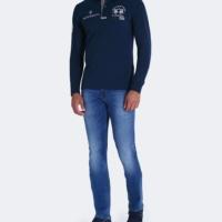 Navy Jericho Polo Shirt