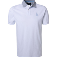 White Number Polo Shirt