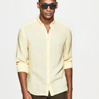 Sunlight Garment Dye Linen Oxford Shirt
