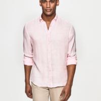 Blush Garment Dye Linen Oxford Shirt