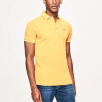 Yellow Slim Fit Logo Polo Shirt