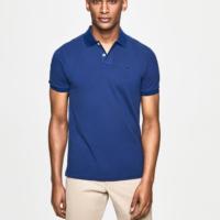 Blue Slim Fit Logo Polo Shirt