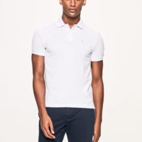 White Slim Fit Logo Polo Shirt