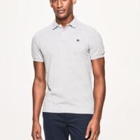 Light Grey Slim Fit Logo Polo Shirt