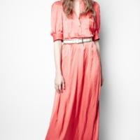 Coral Remedy Satin Long Dress