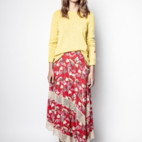 Red Juliet Paisley Psyche Skirt