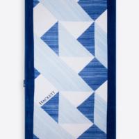 Blue Geometric Print Towel