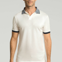 Ecru Polo Stripe Shirt
