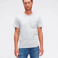 Light Blue Pocket T-Shirt-Old Dye