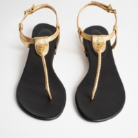 Gold Alessa Metallic Sandals