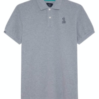 Light Grey Number Polo Shirt