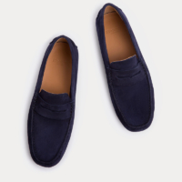 Navy Richmond Penny Loafer Shoes
